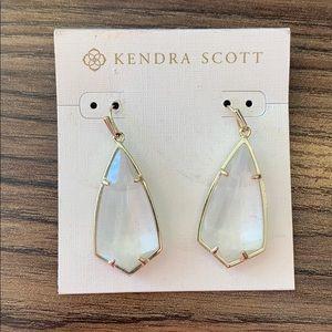 Kendra Scott Carla Drop Earrings in Clear Crystal